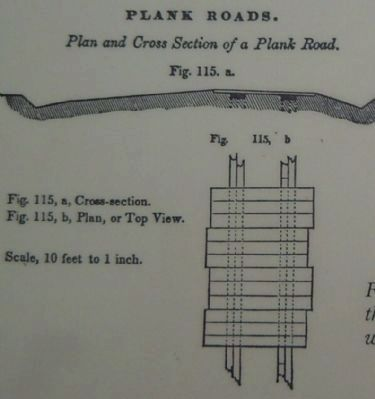Plan and Cross Section of a Plank Road image. Click for full size.