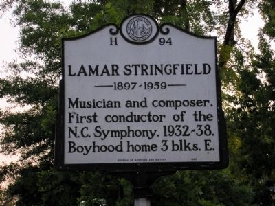 Lamar Stringfield, 1897-1959 Marker image. Click for full size.