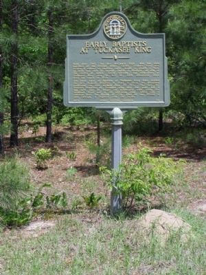 Early Baptists At Tuckasee King Marker image. Click for full size.