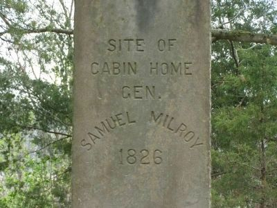 Site of Cabin Home Gen. Samuel Milroy Marker image. Click for full size.