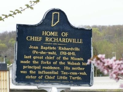 Home of Chief Richardville Marker image. Click for full size.