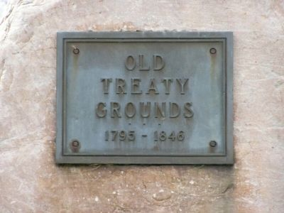 Old Treaty Grounds Marker image. Click for full size.