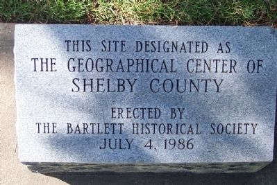 Geographic Center of Shelby County image. Click for full size.