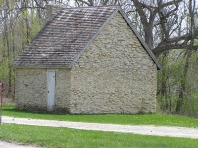 Limestone Structure across the street from the marker image. Click for full size.