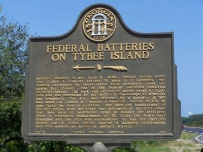 Federal Batteries on Tybee Island Marker image. Click for full size.
