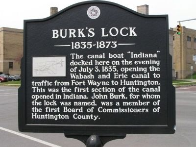 Burk's Lock Marker image. Click for full size.