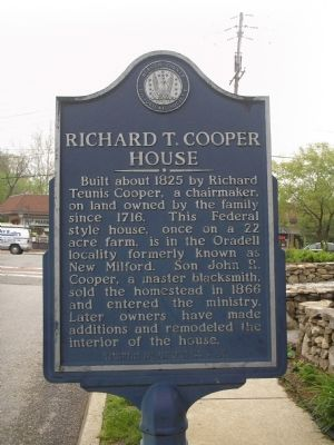 Richard T. Cooper House Marker image. Click for full size.