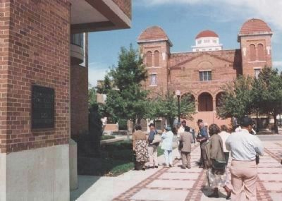 Birmingham Civil Rights Institute (left) and 16th Street Baptist Church (rear) image. Click for full size.