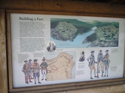 Building a Fort Marker at Original Location image. Click for full size.