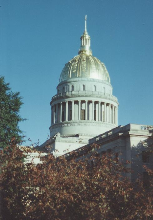 Gilded Dome of the West Virginia State Capitol.