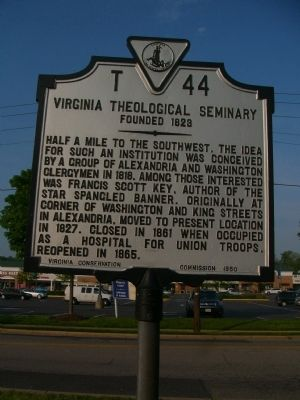 Virginia Theological Seminary Marker image. Click for full size.
