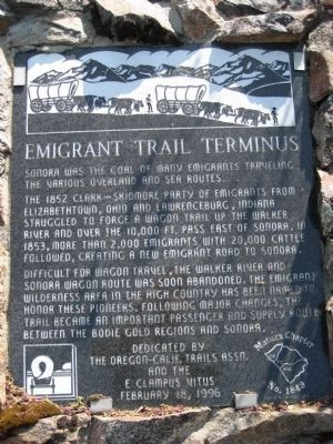 Emigrant Trail Terminus Marker image. Click for full size.