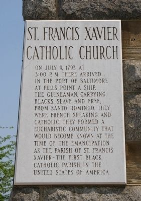 St. Francis Xavier Catholic Church Marker image. Click for full size.