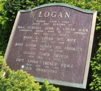 The Logan Family Tomb. image. Click for full size.