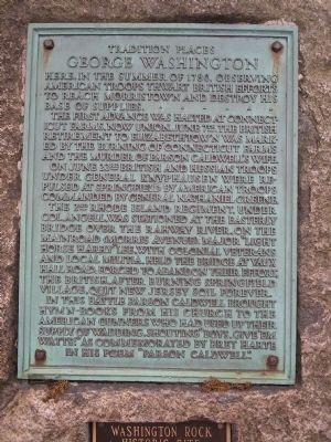 Washington Rock Marker image. Click for full size.