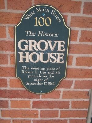Grove House Marker image. Click for full size.