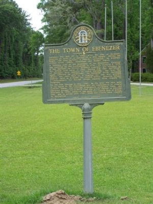 The Town of Ebenezer Marker image. Click for full size.