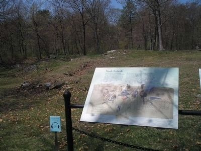 Marker at North Redoubt image. Click for full size.