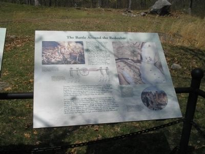 The Battle Around the Redoubts Marker image. Click for full size.