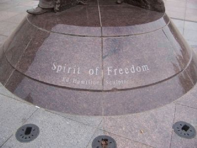 """Spirit of Freedom"" - Ed Hamilton, Sculptor. image. Click for full size."