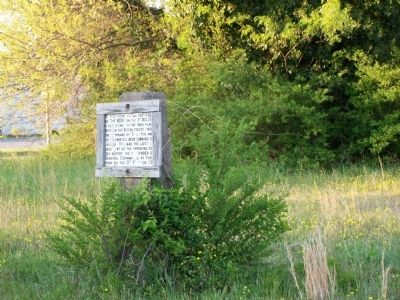 Earlier marker located in field at the Hook image. Click for full size.