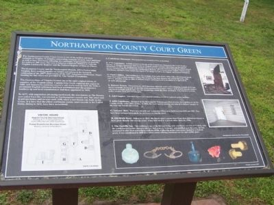 Northampton County Court Green Marker image. Click for full size.