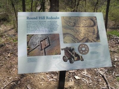 Round Hill Redoubt Marker image. Click for full size.