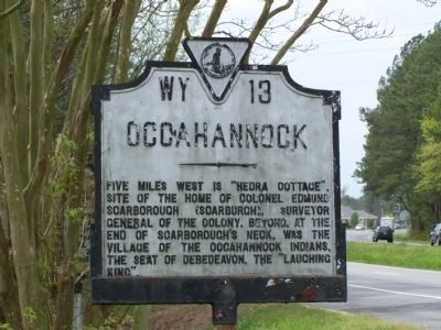 Occahannock Marker image. Click for full size.
