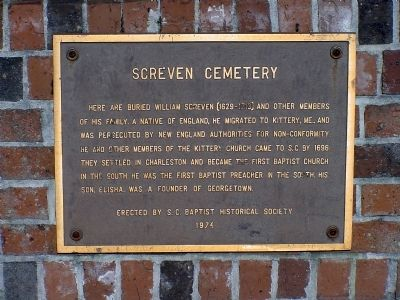 Screven Cemetery Marker image. Click for full size.
