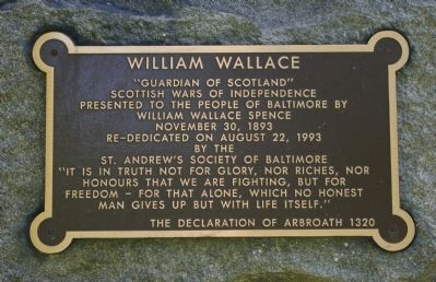 William Wallace Marker image. Click for full size.