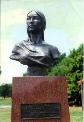 Bust of Pocahontas at the National Hall of Fame for Famous American Indians, Anadarko, OK image. Click for full size.