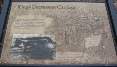 King's Depression Carriage Marker image. Click for full size.