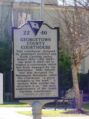 Georgetown County Courthouse Marker, Side 1 image. Click for full size.