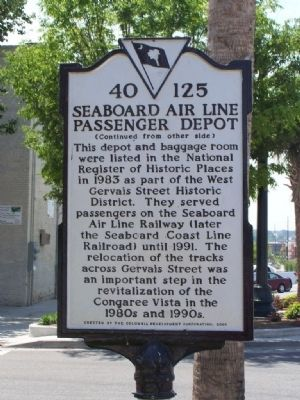 Seaboard Air Line Passenger Station Marker image. Click for full size.