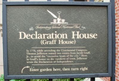 Declaration (Graff) House Marker image. Click for full size.