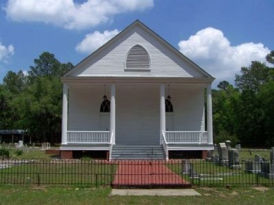 Mizpah Methodist Church, as mentioned on marker image. Click for full size.