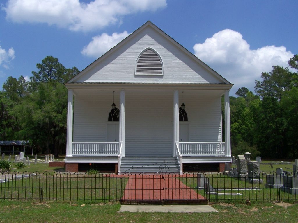 Mizpah Methodist Church, as mentioned on marker