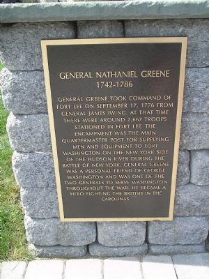 General Nathaniel Greene Marker image. Click for full size.