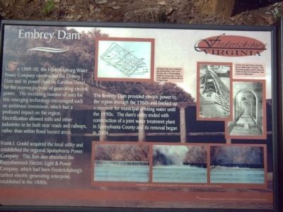 Embrey Dam Marker image. Click for full size.