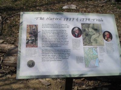 The Historic 1777 & 1779 Trails Marker image. Click for full size.