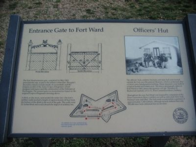 Entrance Gate to Fort Ward Marker image. Click for full size.