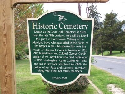 Historic Cemetery Marker image. Click for full size.
