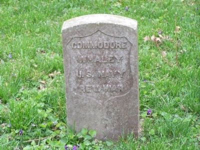 Grave of Commodore Whaley image. Click for full size.