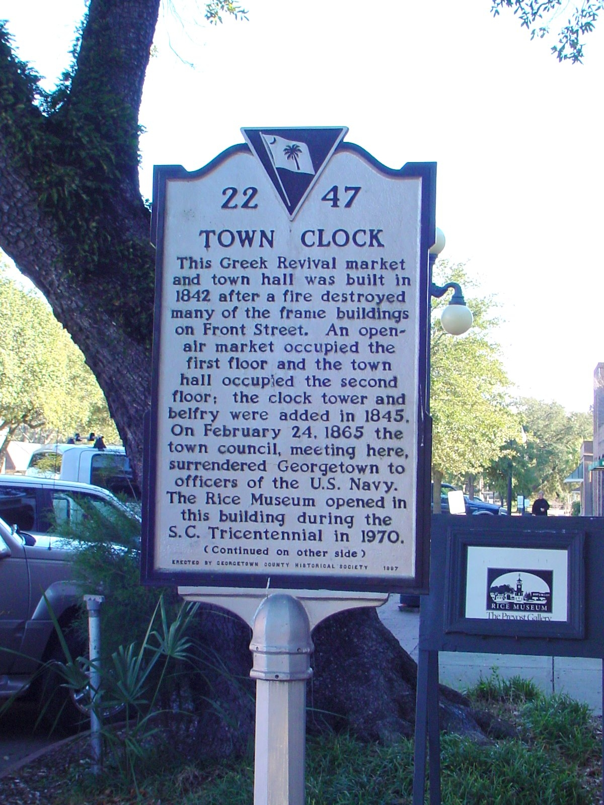 Town Clock Side of Marker