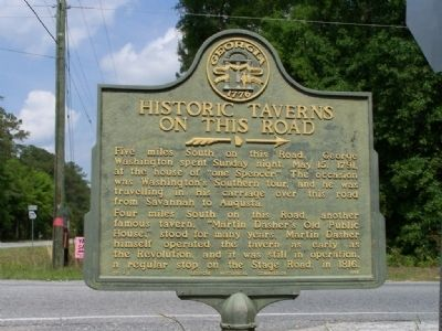 Historic Taverns on this Road Marker image. Click for full size.