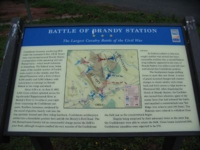 The Restored Brandy Station Marker image. Click for full size.