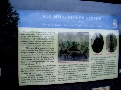 Rio Hill 1864 Skirmish Marker image. Click for full size.
