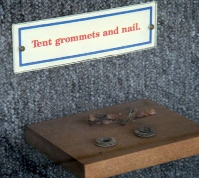 Tent Grommets and Nail image. Click for full size.