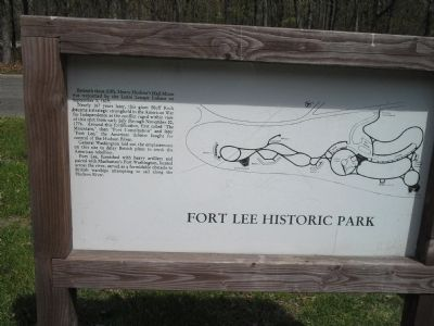 Fort Lee Historic Park Marker image. Click for full size.