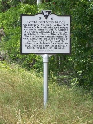 Battle At Rivers Bridge Marker image. Click for full size.